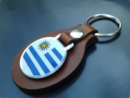 Llavero Cuero Personalizado Uruguay, San Miguel Artículos Publicitarios
