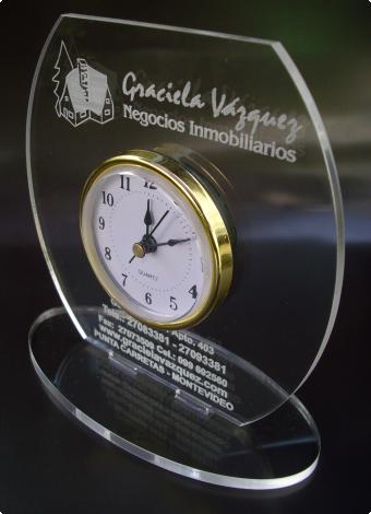 Reloj Acrilico Inmobiliaria, San Miguel Artículos Publicitarios